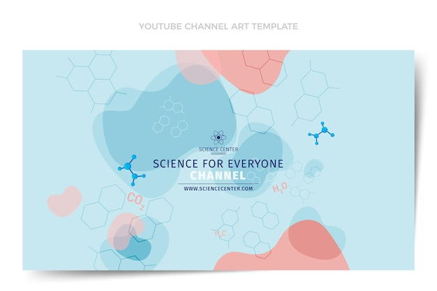 Flat design science youtube channel