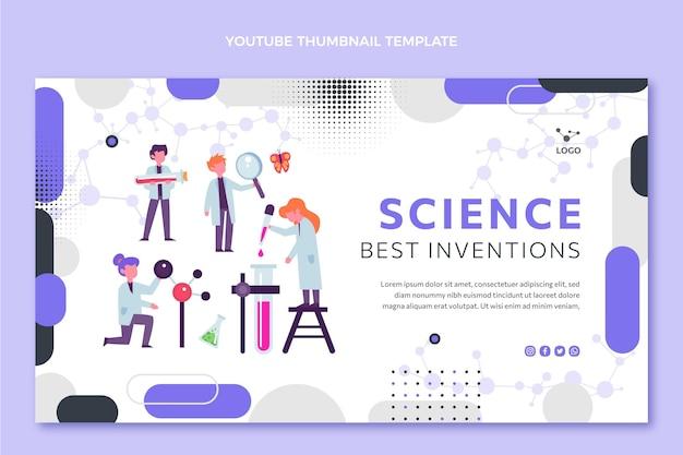Flat design science youtube thumbnail