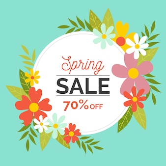 Flat design seasonal spring sale
