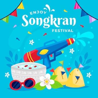 평면 디자인 송크란 축제
