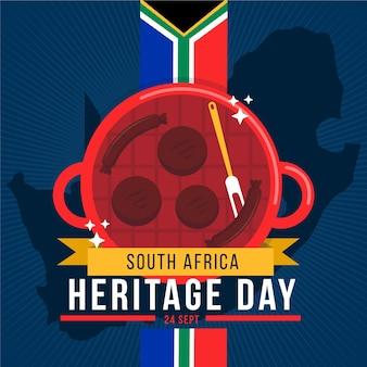Плоский дизайн концепция день наследия южной африки