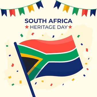 Flat design south africa heritage day concept