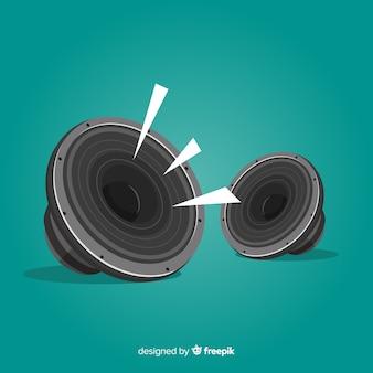 Flat design speaker for music