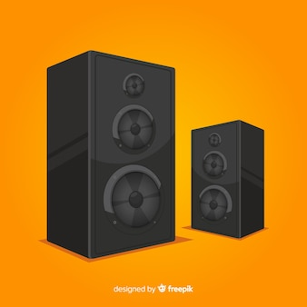 Flat design speaker for music
