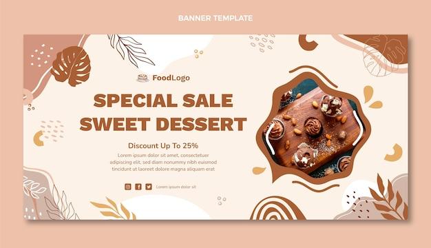 Плоский дизайн специального десерта продажа баннер