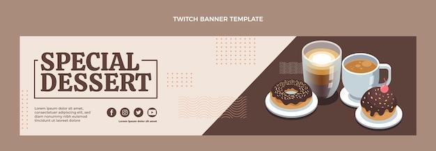 Flat design special dessert twitch banner