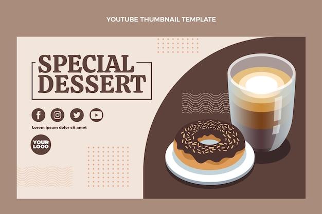 Miniatura di youtube per dessert speciale dal design piatto