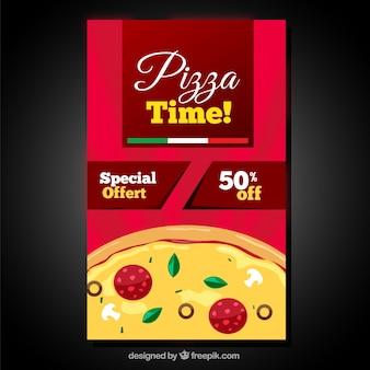 Pizzeria speciale per la progettazione piatta