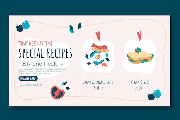 Webinar di ricette speciali di design piatto