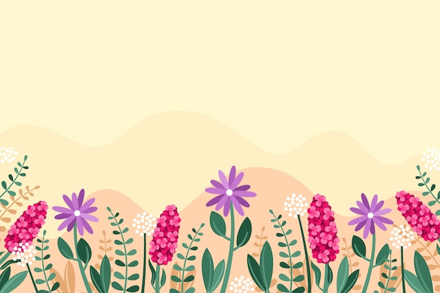 Flat design spring background concept