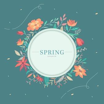 フラットなデザインの春の背景