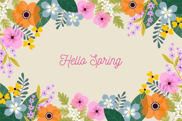 Flat design spring background