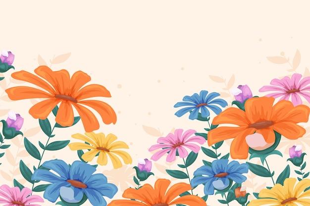 Flat design spring background
