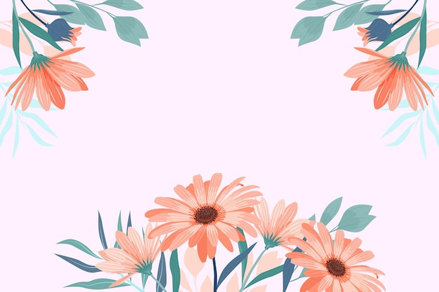 Плоский дизайн весенний фон