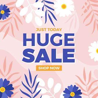 Flat design for spring huge sales