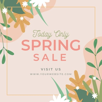 Flat design spring promotional sale