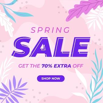 Flat design spring sale concept