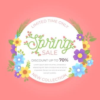 Flat design spring sale discount