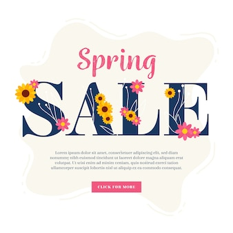 Flat design spring sale with special offer