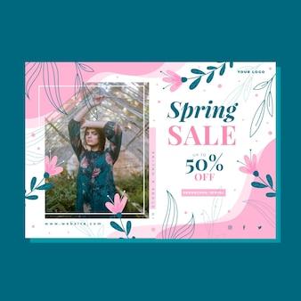 Flat design spring sale