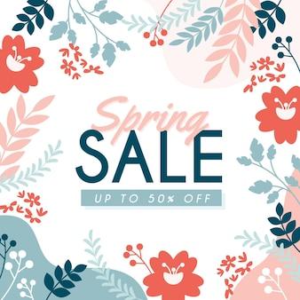 Vendita di primavera design piatto