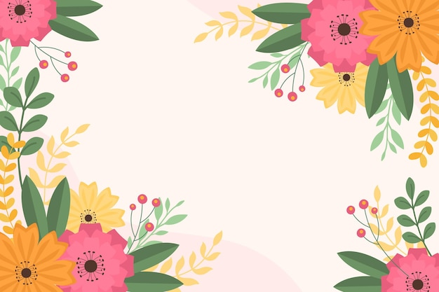 평면 디자인 봄 벽지