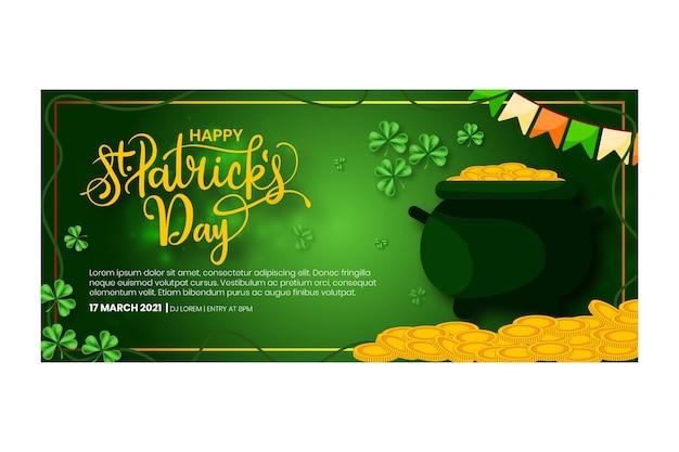 Flat design st. patrick's day banner