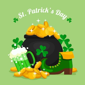 Flat design st. patrick's day illustration