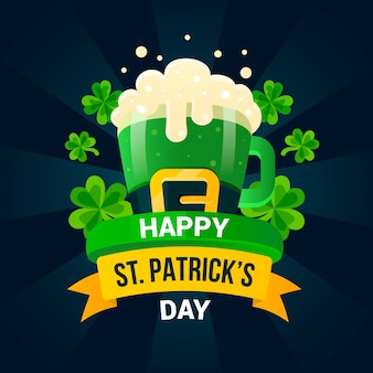 Flat design st. patricks day celebration theme