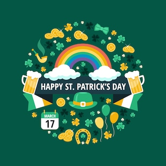 Flat design st patricks day concept