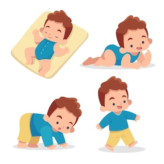 아기의 평면 디자인 단계