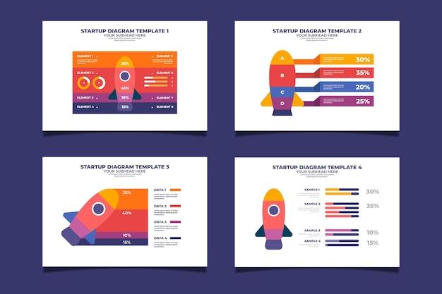 Flat design startup infographic