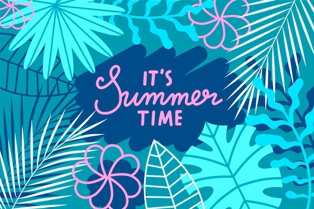 Плоский дизайн летом фон концепция