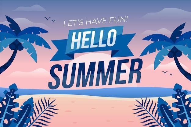Flat design summer background