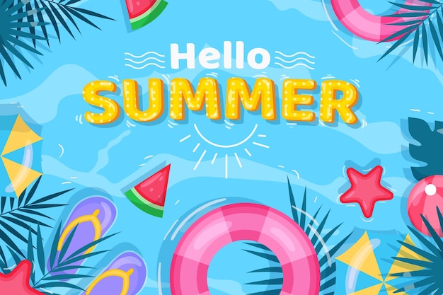 Flat design summer background
