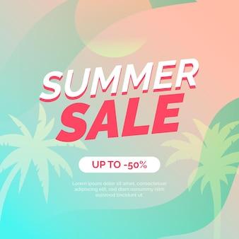 평면 디자인 여름 판매 개념