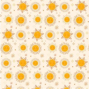 Flat design sun pattern texture