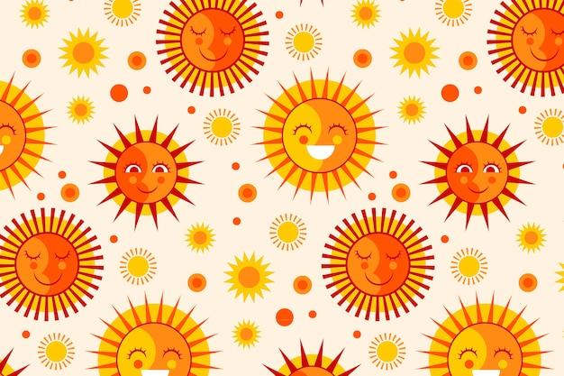 Плоский дизайн солнце шаблон