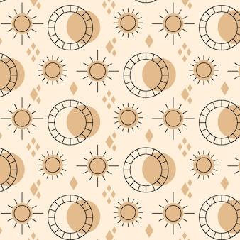 Flat design sun pattern