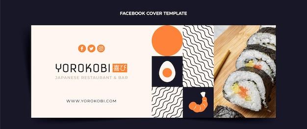 Flat design sushifacebook cover