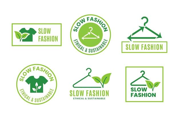 フラットデザインの持続可能なファッションバッジ
