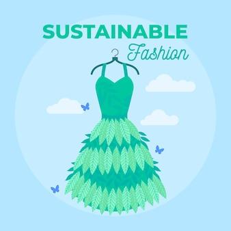 フラットなデザインの持続可能なファッションコンセプト
