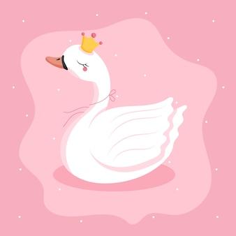 Плоская принцесса-лебедь