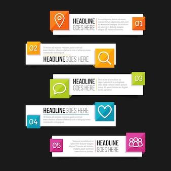 Modello di infografica sommario design piatto
