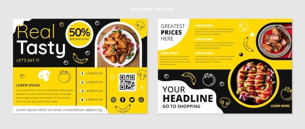 Brochure di cibo gustoso design piatto