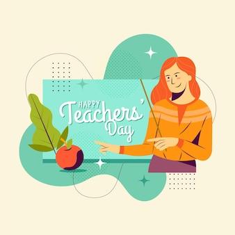 フラットなデザインの教師の日のコンセプト
