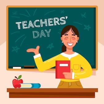Giornata degli insegnanti di design piatto