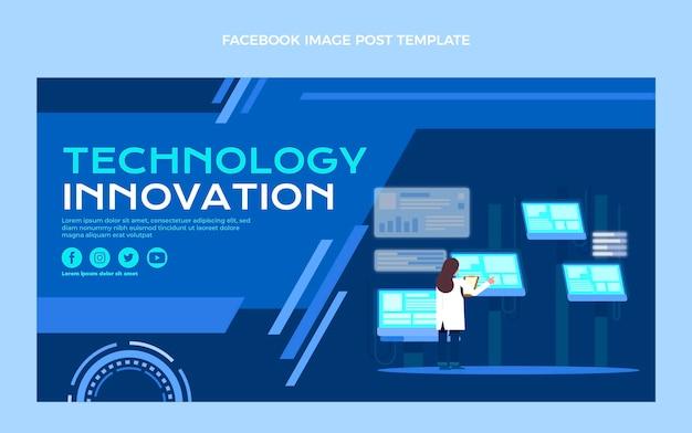 Плоский дизайн технологии facebook post