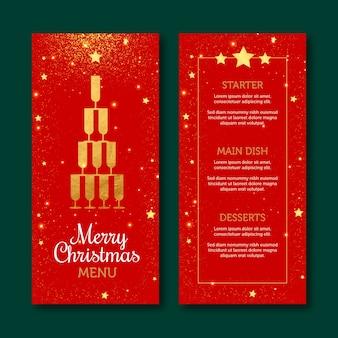 Flat design template christmas menu