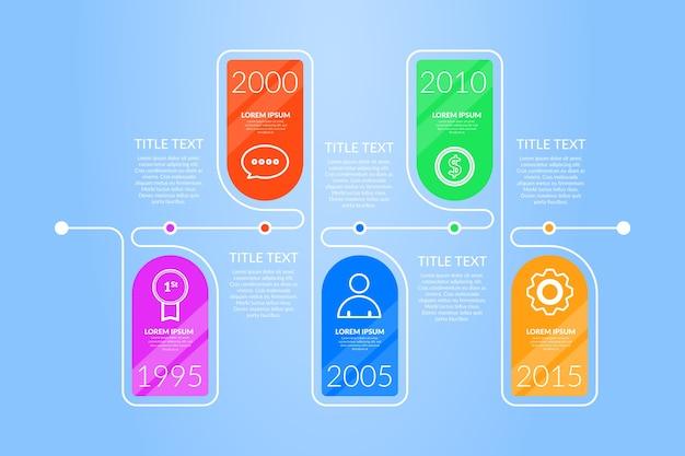 Flat design template timeline infographic